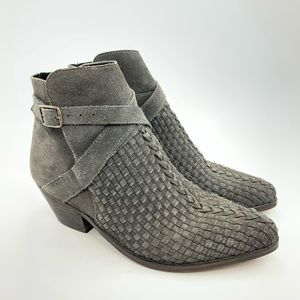Free People Venture ankle boots grey suede size 9